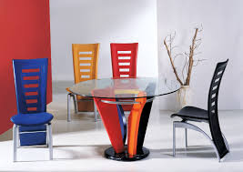 home design breathtaking colorful diningoom sets image ideas glass