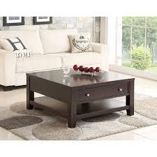espresso square coffee table abbyson clarkston espresso rubberwood square coffee table free