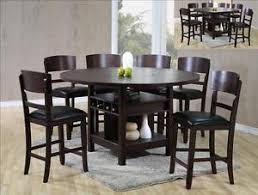 Espresso Dining Room Furniture New Susanna 7 Pc Counter Height Espresso Dining Table W Lazy