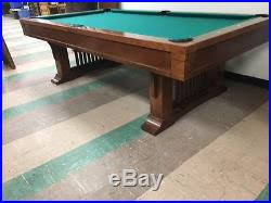 brunswick mission pool table billiards tables blog archive vintage 8 foot brunswick billiards