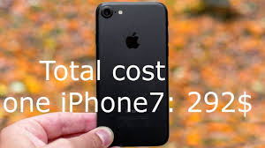 how much does it cost to build the iphone 7 youtube