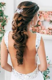 elegant long curly wedding hairstyle elite wedding looks