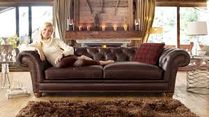Chesterfield Style Sofa by Stamford Leather Fabric Sofa Range Sofology Living Room