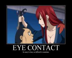 Eye Contact Meme - bluntness anime meme com