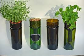 self watering hydroponic garden gift wine bottle indoor herb