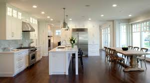 Restoration Hardware Kitchen Island Lighting Dining Room Farmhouse Kitchen With Open Floor Plan And Kitchen