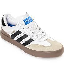 white samba adidas busenitz vulc samba white gum shoes zumiez
