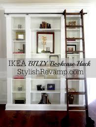 ladder bookshelf ikea billy bookcase hack with library ladder ikea