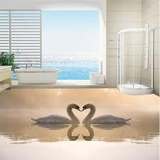 Painting A Bathroom Floor - aliexpress buy 3d wallpaper customized 3d floor painting world