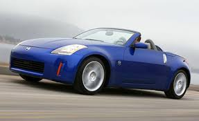 nissan sports car blue 2004 nissan 350z convertible car news news car and driver