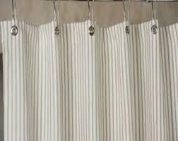 Stripe Shower Curtains Ticking Stripe Shower Curtain Black Brown Grey Navy Blue