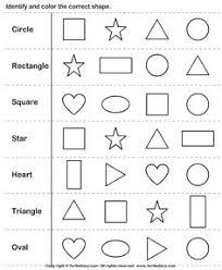 shape jumble coloring worksheets worksheets and kindergarten