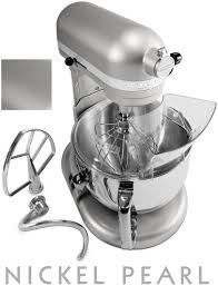 kitchenaid mixer 6 quart nickel pearl
