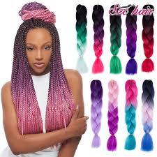 ombre kanekalon braiding hair gallery hair for box braids women black hairstyle pics
