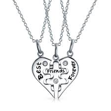 necklace best friends images 925 sterling silver best friends forever puzzle necklace set 16in jpg