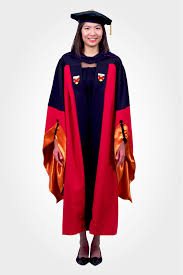 doctoral gown dressed up girl