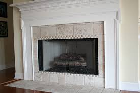 decoration fireplace designs with tile surrounds modern wall
