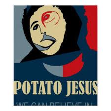 Potato Jesus Meme - behold i come quickly jesus lion and lamb poster zazzle com