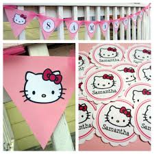 custom birthday party decorations handmade hello kitty banner