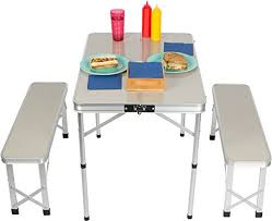 folding cing picnic table portable folding picnic table the best table of 2018
