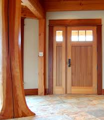 Insulate Exterior Door Crafted Of Western Cedar This Entry Door Is 3 Thick And Uses