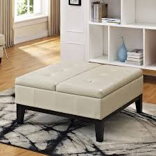 Coffee Table Storage by Wyndenhall Lancaster Square Coffee Table Ottoman With Split Lift