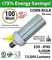 450 watt halogen hps equivalent 100w led light bulb 13000lm