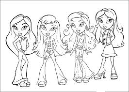 walt disney coloring pages bratz beautiful girls 604579 coloring
