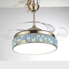 Ceiling Fan With Chandelier 42 Inch Crystal Stealth Fan Chandelier With Light Ceiling Fan Led