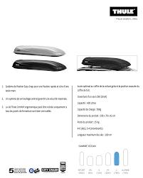 si e voiture ergonomique thule coffre de toit l 780 noir 470 litres achat vente