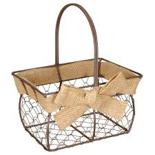 small chicken find the small chicken wire basket with burlap bow by ashland at