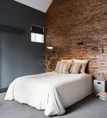 painting accent walls high ceilings the deep rich paint on this horizontal wood paneling in bedroom industrial with high ceiling bedroom accent wall ideas bedroom accent wall