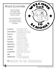 back to worksheets back to word scramble u2013 classroom