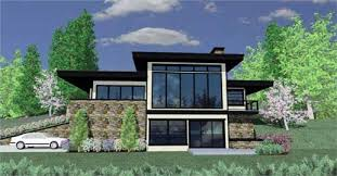 front sloping lot house plans strikingly beautiful 11 modern house plans sloping land for lots