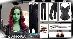 gamora costume gamora costume guardians of the galaxy gamora props