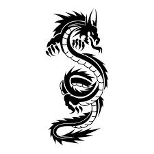 simple black tribal dragon tattoo design jpg 700 700 tattoos