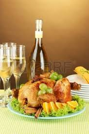 table setting for thanksgiving day on white background up