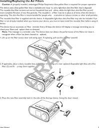 1116426 continuous positive airway pressure device user manual