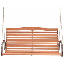 Wooden Garden Swing Chair Jack Post Country Garden Natural Wood High Back Patio Swing Seat