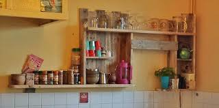kitchen shelves made from wooden pallet recycled things
