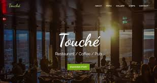 one page restaurant templates