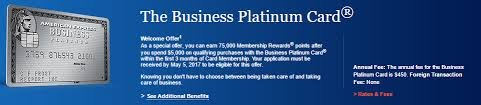 American Express Business Card Application Targeted American Express Business Platinum 75 000 Point Bonus