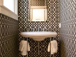 Best Powder Rooms Terrific Small Powder Room With Awesome Wallpaper Decor Plus