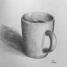 well shaded cup good shadow and lovely cross hatching