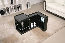 Mini Bar Table Modern Coffee End Table With Mini Storage Bar Inside Denver