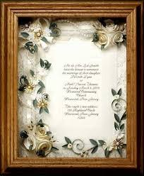 wedding keepsake gifts framed wedding invitation wedding gift framed ivory wedding