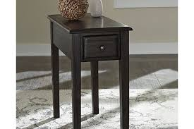 Power Chairside End Table Solid Wood Chairside End Table Ashley Furniture Homestore