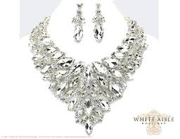 bridal necklace crystal images Crystal bridal jewelry set statement necklace back drop necklace jpg