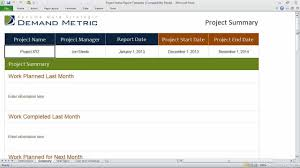 project weekly status report template excel project status report template
