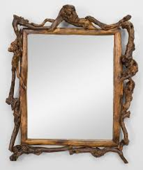 bathroom rustic bathroom mirror with unusual frame design